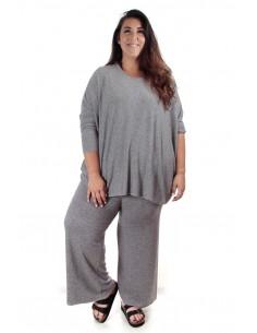 Conjunto punto oversized gris