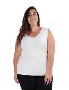 Camiseta Nora tirante blanco