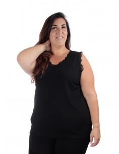 Camiseta Nora tirante negra