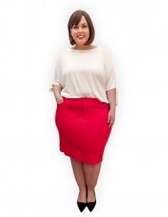 Falda Abril roja