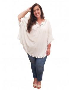 Blusón Oversized Blanco
