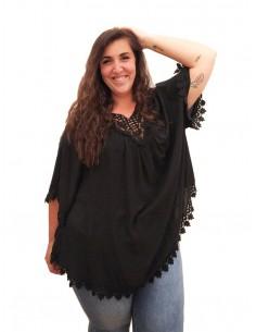 Blusón Oversized negro