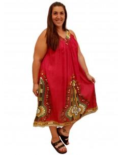 Vestido tirante pico rojo