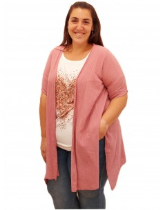 Kimono lino rosa