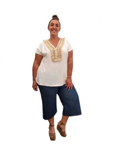 Pantalón culotte vaquero