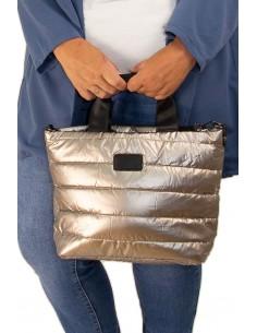 Bolso acolchado metalizado