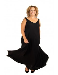 Vestido seda OLIVIA negro