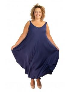 Vestido seda OLIVIA azul