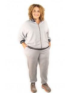 Conjunto sudadera y pantalón gris