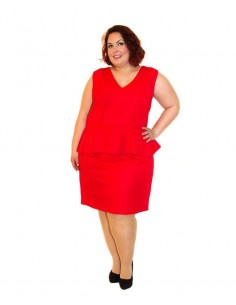 Vestido peplum rojo