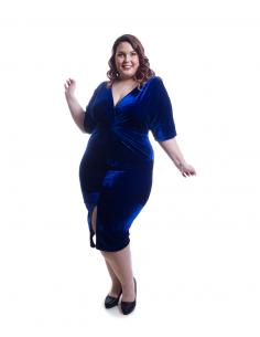 Vestido azul terciopelo