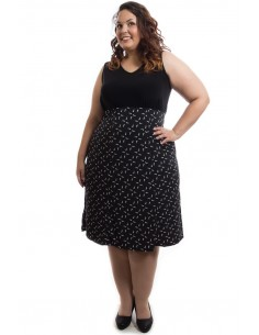 Falda estampada negra
