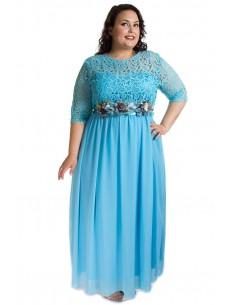 Vestido ceremonia azul