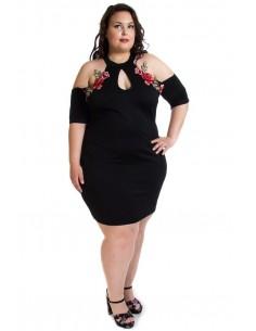 Vestido negro cuello halter