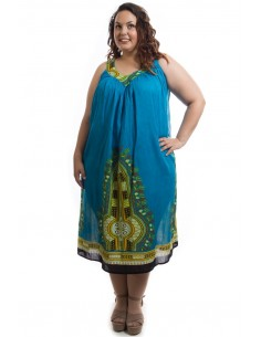 Vestido tirante pico azul