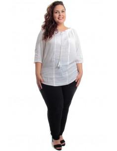 Blusa bordado blanca