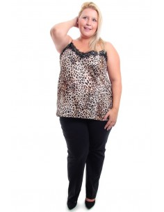 Blusa lencera leopardo