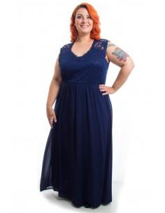 Vestido fiesta azul intenso
