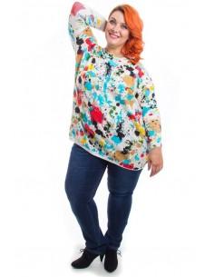 Jersey tallas grandes multicolor