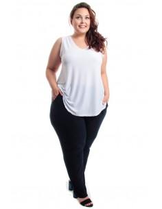 Camiseta pico blanca
