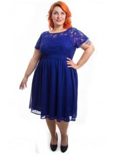 Vestido fiesta tallas grandes Erin azul