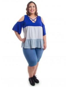 Camiseta franjas azul