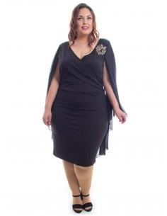 Vestido negro capa