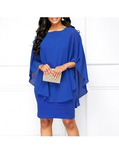 Vestido azul fiesta capa