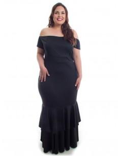 Vestido sirena volante negro