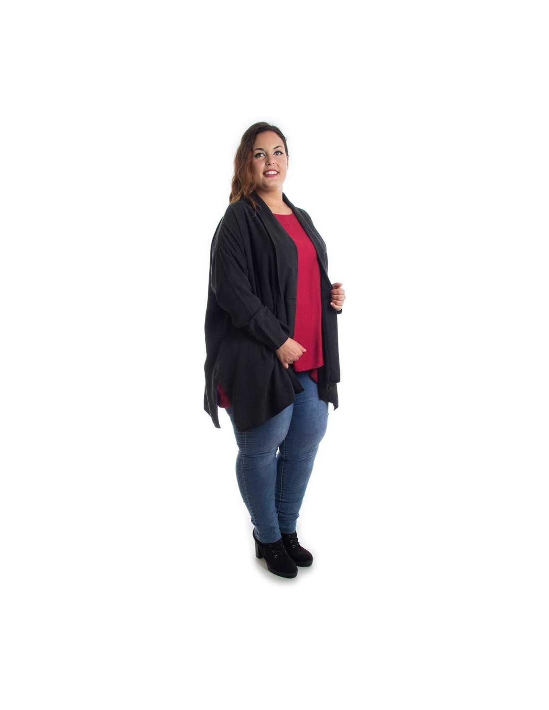 Comprar Americana Oversized Negra Para Mujer En Tallas Grandes Online