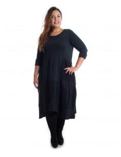 Vestido tallas grandes algodón negro