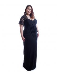 Vestido tallas grandes ceremonia negro