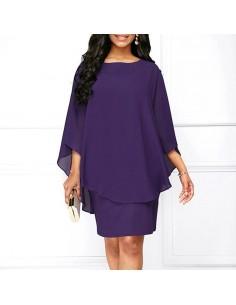 Vestido morado plus size