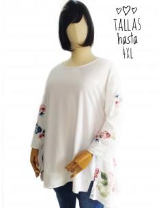 Camiseta - sudadera blanca