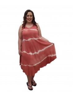 Vestido tye-dye salmón