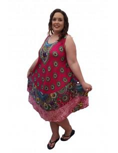 Vestido mandala fucsia