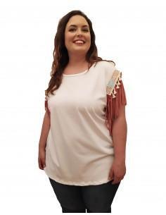 Camiseta hombro rosa