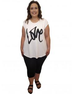 Camiseta Love blanca