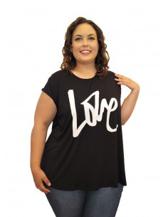 Camiseta Love Negra