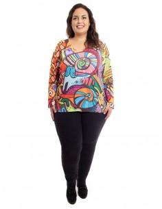 Jersey estampado Multicolor