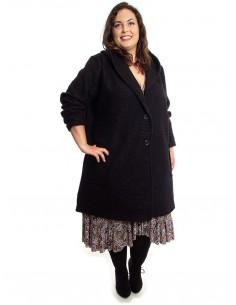 Abrigo tallas grandes negro