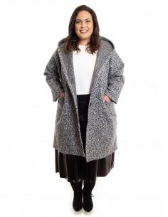 Abrigo tallas grandes gris