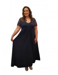 Vestido tallas grandes ceremonia azul
