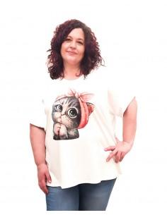 Camiseta Gatita blanca