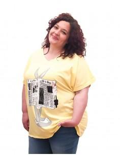 Camiseta Periódico amarilla