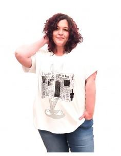 Camiseta Periódico blanca